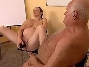 Pregnant girl rides cock on floor